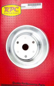 RACING POWER CO-PACKAGED #R9608 Chrome Steel Crankshaft Pulley 3Groove Long WP