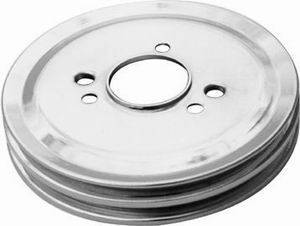 RACING POWER CO-PACKAGED #R9816 BB Chevy Double Groove Crankshaft Pulley  SWP