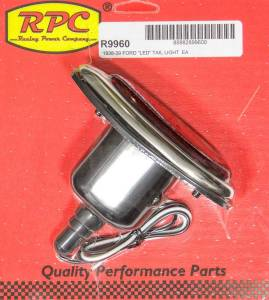 RACING POWER CO-PACKAGED #R9960 38-39 Ford LED Taillight w/Plain Red Lens