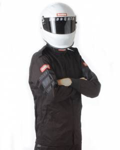 RACEQUIP SAFEQUIP #111002 Black Jacket Single Layr Small