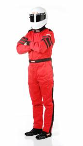 RACEQUIP SAFEQUIP #120015 Red Suit Multi Layer Large