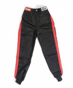 RACEQUIP SAFEQUIP #1970093 Black Pants Kids Single Layer Medium Black Trim