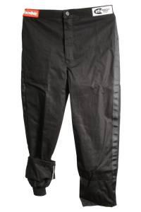 RACEQUIP SAFEQUIP #1970095 Black Pants Kids Single Layer Large Black Trim