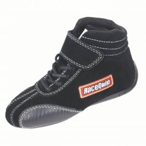 RACEQUIP SAFEQUIP #30400910 Shoe Ankletop Black Kids Size 10 SFI 3.3/6