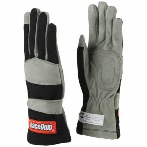RACEQUIP SAFEQUIP #351005 Gloves Single Layer Large Black SFI