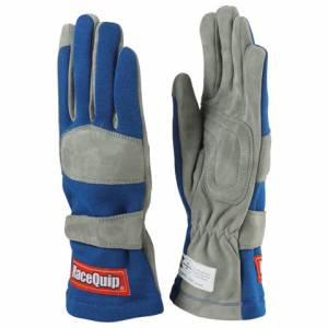 RACEQUIP SAFEQUIP #351023 Gloves Single Layer Medium Blue SFI