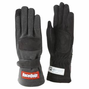 RACEQUIP SAFEQUIP #355005 Gloves Double Layer Large Black SFI
