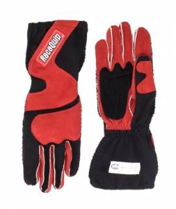 RACEQUIP SAFEQUIP #356105 Gloves Outseam Black/Red Large SFI-5