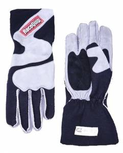 RACEQUIP SAFEQUIP #356605 Gloves Outseam Black/ Gray Large SFI-5