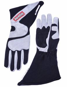 RACEQUIP SAFEQUIP #358605 Gloves Outseam Black/ Gray Large SFI-5