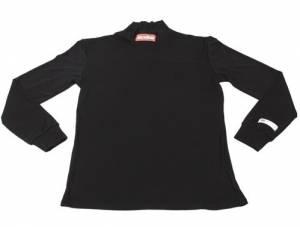 RACEQUIP SAFEQUIP #421991 Underwear Top FR Black X-Small SFI 3.3