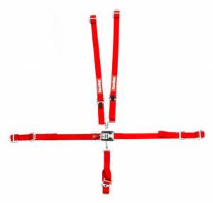 RACEQUIP SAFEQUIP #709019 5pt Harness Set Jr LL Red