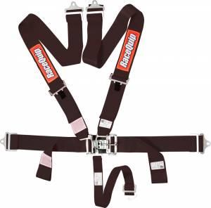 RACEQUIP SAFEQUIP #711001 5pt Harness Set L&L Black SFI