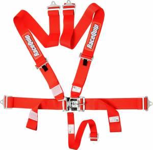 RACEQUIP SAFEQUIP #711011 5pt Harness Set L&L Red SFI