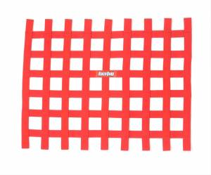 RACEQUIP SAFEQUIP #721015 Ribbion Window Net Red Non-SFI