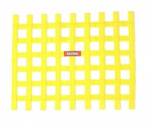 RACEQUIP SAFEQUIP #721035 Ribbon Window Net Yellow Non-SFI 18in x 24in