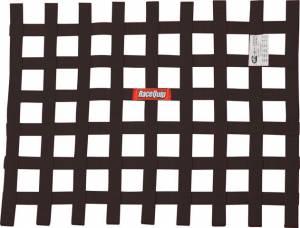 RACEQUIP SAFEQUIP #725005 Ribbon Window Net SFI Black
