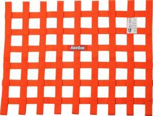 RACEQUIP SAFEQUIP #725045 Ribbon Window Net SFI Orange