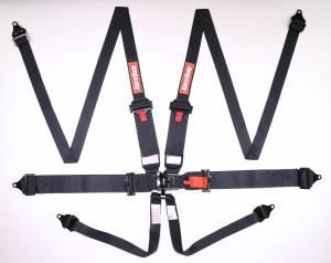 RACEQUIP SAFEQUIP #818008 6pt Harness L&L PRO HNR SFI 16.1 Black
