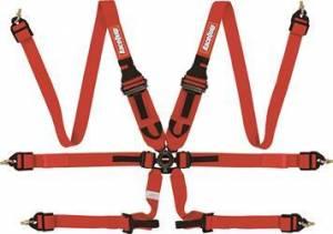 RACEQUIP SAFEQUIP #855015 6pt Harness Camlock P/D HNR Red FIA