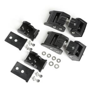 RUGGED RIDGE #11210.27 Hood Latches Textured Bl ack 18- Jeep Wrangler JL