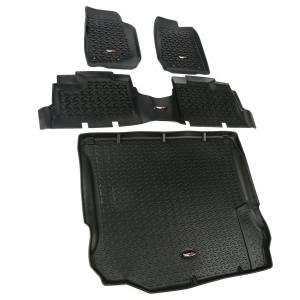 RUGGED RIDGE #12988.04 Floor Liner Kit Black 4 Door 11-18 Jeep Wrang