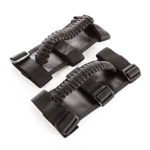 RUGGED RIDGE #13505.3 Paracord Grab Handles  Black/Black Pair