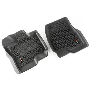 RUGGED RIDGE #82902.33 Floor Liners Front Black 15-18 Ford F-150
