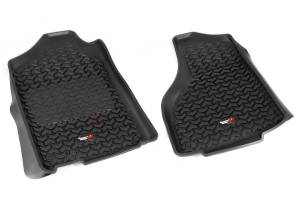 RUGGED RIDGE #82903.05 Floor Liners Front Black 12-18 Dodge Ram 1500