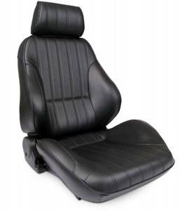 SCAT ENTERPRISES #80-1000-51L-LEATHER Rally Recliner Seat - LH - Black Leather