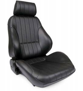 SCAT ENTERPRISES #80-1000-51R-LEATHER Rally Recliner Seat - RH - Black Leather