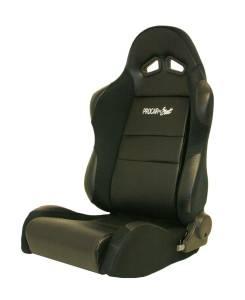 SCAT ENTERPRISES #80-1605-61L Sportsman Racing Seat - Left - Black Vinyl/Vlour