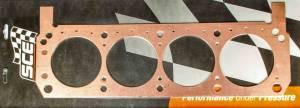 SCE GASKETS #P361543L SBF Copper Head Gasket LH 4.155 x .043