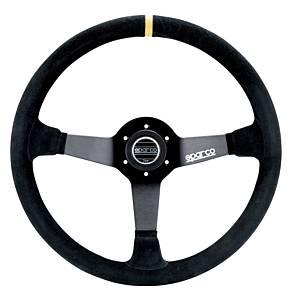 SPARCO #015R345MSN Steering Wheel 345 Black Suede