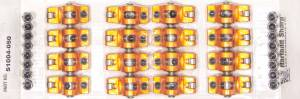 SHARP ROCKERS #S1004-050 SBC Rocker Arms - 1.5 Ratio 7/16 Stud