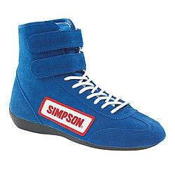 SIMPSON SAFETY #28800BL High Top Shoes 8 Blue