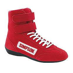 SIMPSON SAFETY #28850R High Top Shoes 8.5 Red