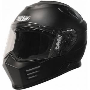 SIMPSON SAFETY #GBDXL3 Helmet Flat Black DOT Ghost Bandit X-Large