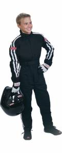 SIMPSON SAFETY #P402411 Suit Nomex X-Large Jr D/L Black Premium