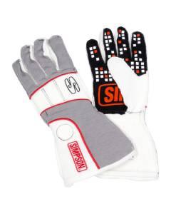 SIMPSON SAFETY #VRMG-F Vortex Glove Medium Grey / White SFI