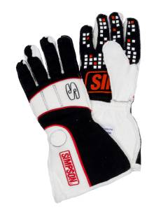 SIMPSON SAFETY #VRMK-F Vortex Glove Medium Black / White SFI