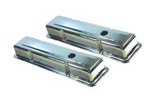 58-86 SBC Steel Short V/C Chrome