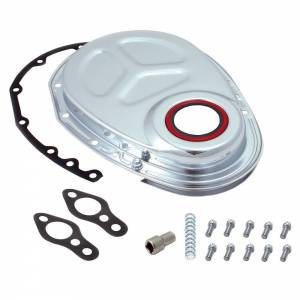 SPECTRE #SPE-42353 SBC Timing Chain Cover Kit Chrome
