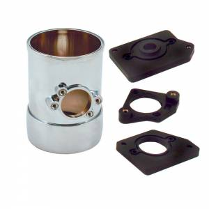Air Flow Sensor Mount 3in w/Collar Chrome