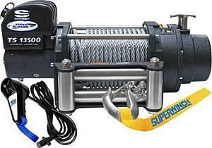 SUPERWINCH #1513200 13500# Winch w/Roller Fairlead & 12ft Remote