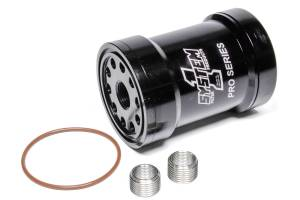 SYSTEM ONE #209-571-BPS-1 Billet Oil Filter w/Blt Cap 75 Micron - Black
