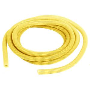 Convoluted Tubing 3/8in x 10' Yellow