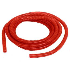 Convoluted Tubing 3/8in x 10' Red