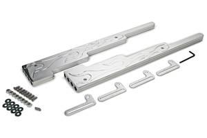 TAYLOR-VERTEX #42200 Polished Alum Plug Wire Loom Kit SBC Flamed