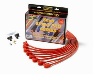 TAYLOR-VERTEX #76230 SBC 8MM Pro Race Wires- Red